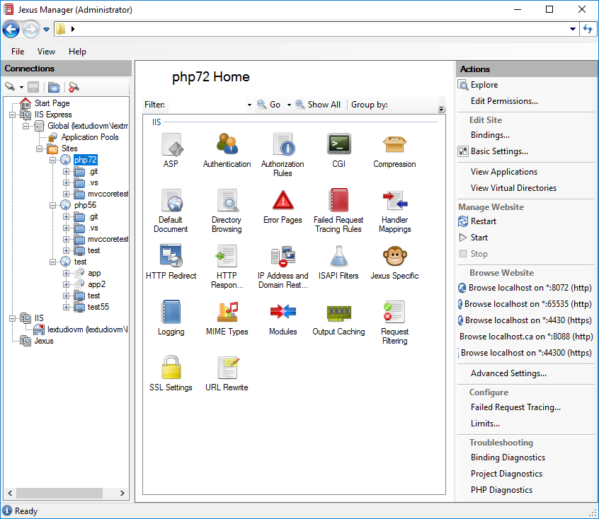 Managing IIS Express Servers — Jexus Manager 12 0 documentation